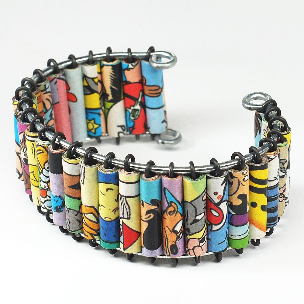 paper bead jewelry comic book cuff bracelet by tanith rohe on deviantart. Black Bedroom Furniture Sets. Home Design Ideas