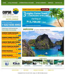 Coron Tours and Travel website layout