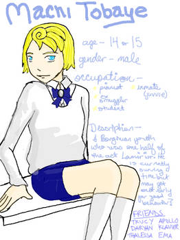 Machi Tobaye Profile