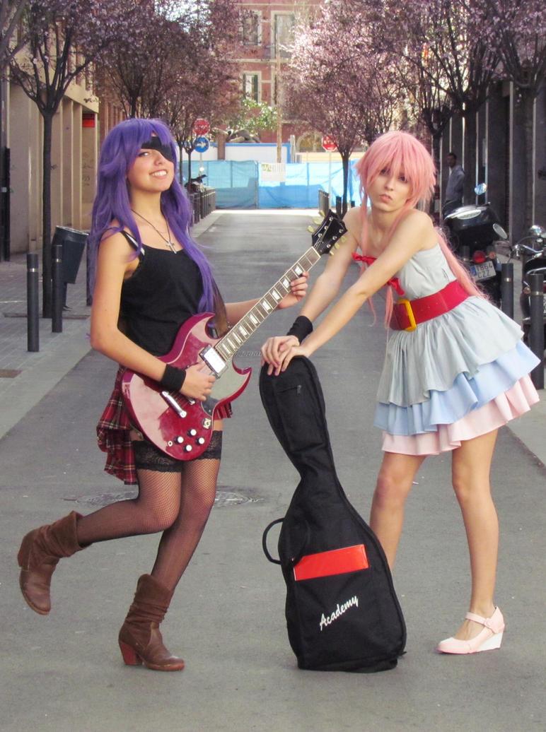 Feeling the music [Mirai Nikki cosplay] by Amiranne