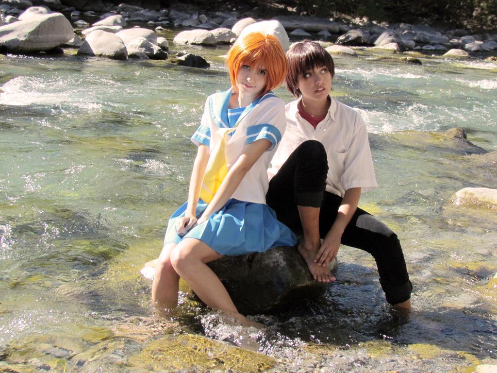 Rena and Keiichi Cosplay [Higurashi] by Amiranne