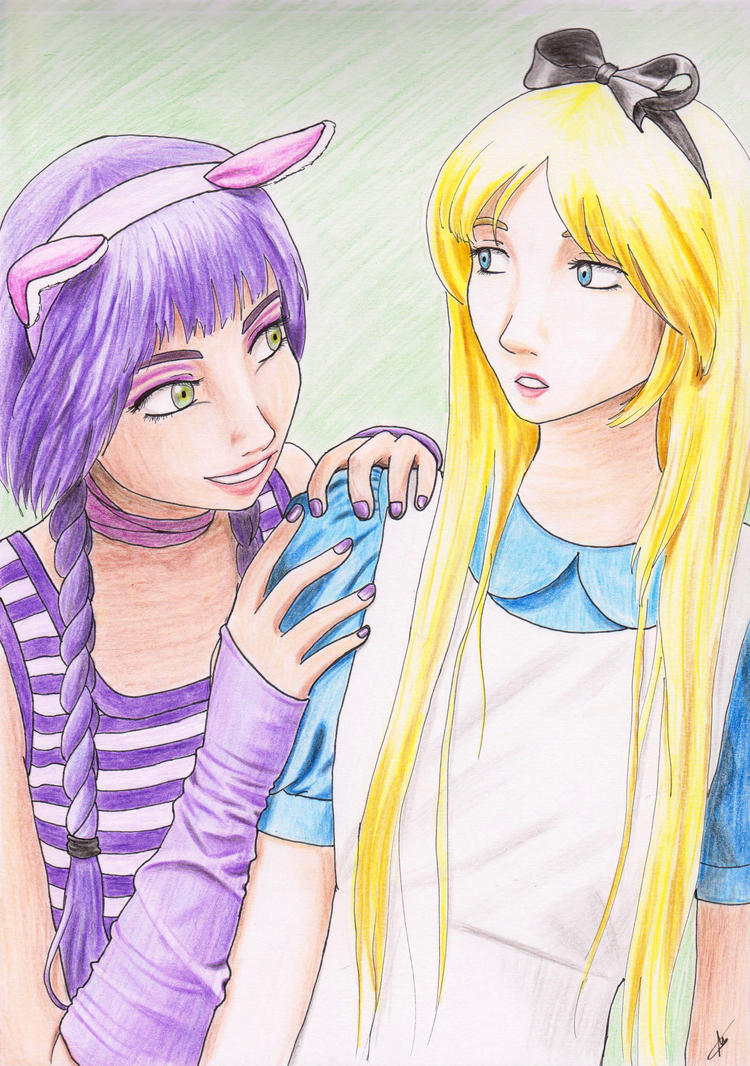 This way [Cheshire Cat x Alice - Drawing] by Amiranne