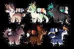 batch of dog adopts // 2/6 open // flatsale