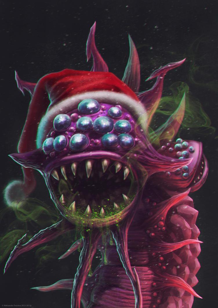 Santa Baron-Nashor (League of Legends) by MissSwarm