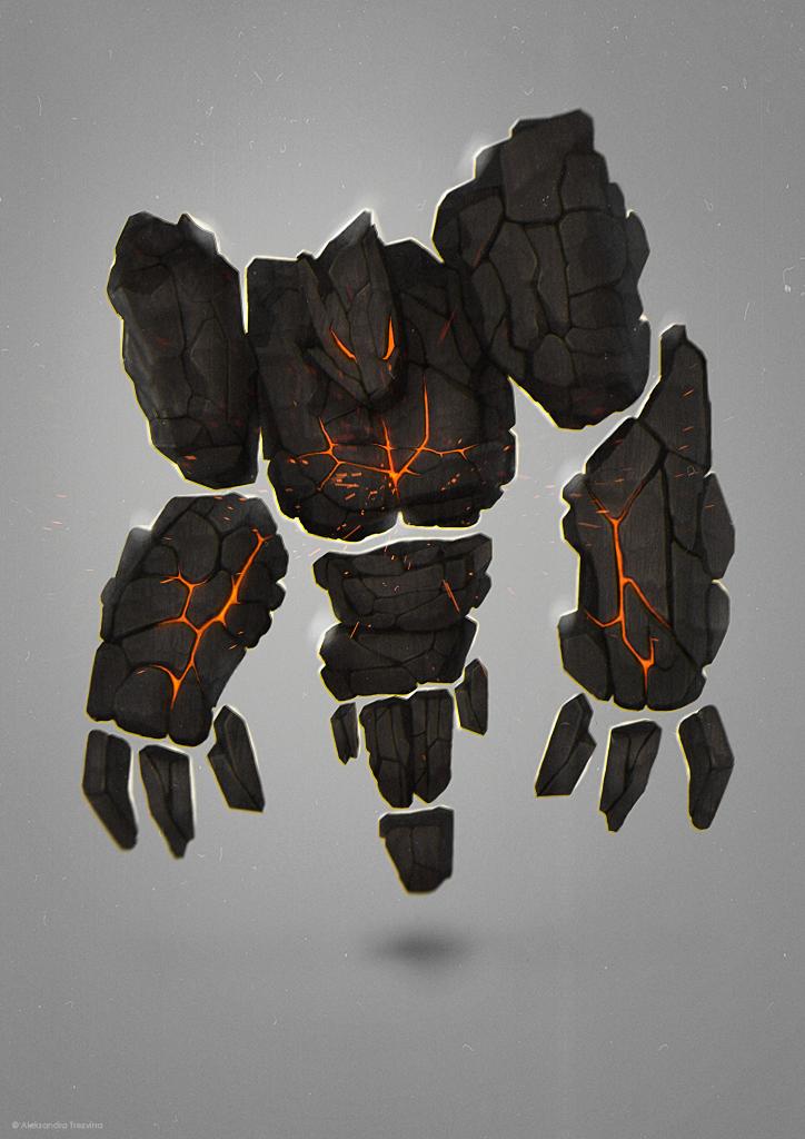 Coal Golem by MissSwarm
