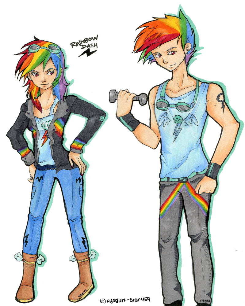 MLP: Rainbow Dash and Rainbow Blitz by Kyogurt-Star459