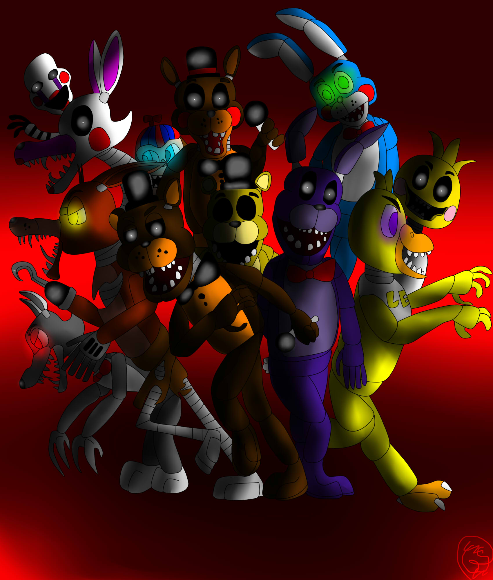 Five nights at freddy s 2 the gang s all here by generalsprinkles on
