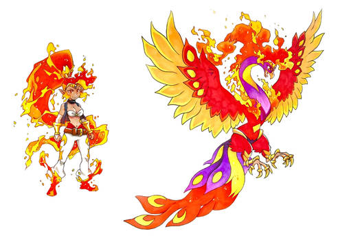 Enhanced Shantae + Phoenix Form By Twisted-Wind