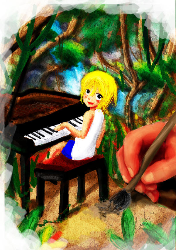 canvas, piano and dream by Gunyuu