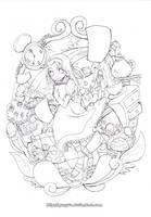 Wonderland lineart by Gunyuu