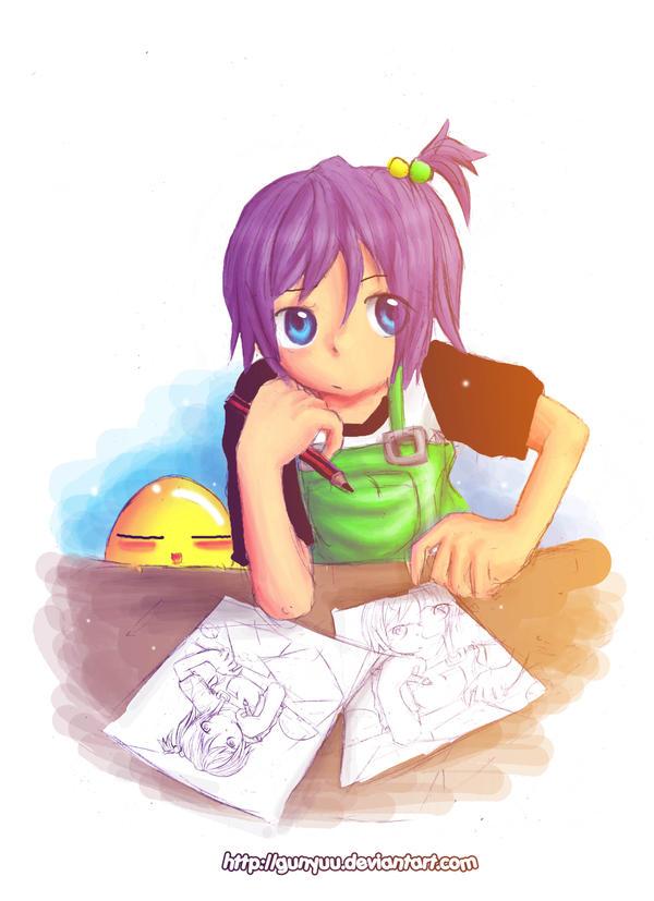 Sketching by Gunyuu