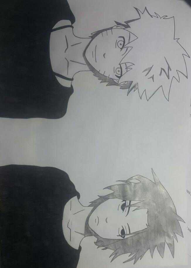 Naruto and Sasuke by Blossom-Cotton