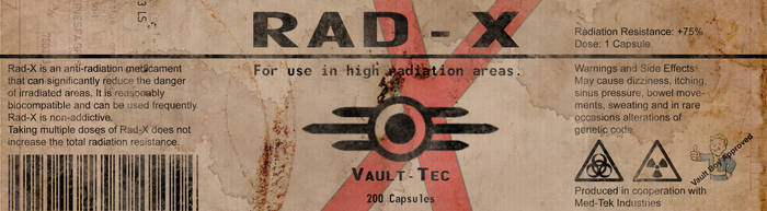 RAD-X Label from Fallout