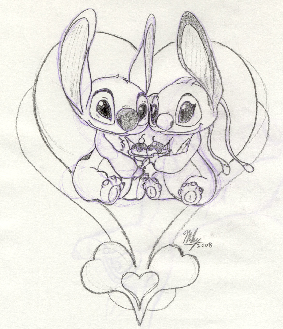 stitch and angel coloring pages - photo#8