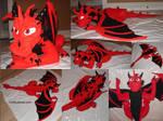 Giant Dragon Plush Commission - Blaze