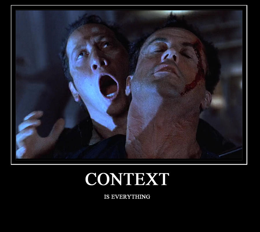 Demotivational Poster - Context by Stitchfan