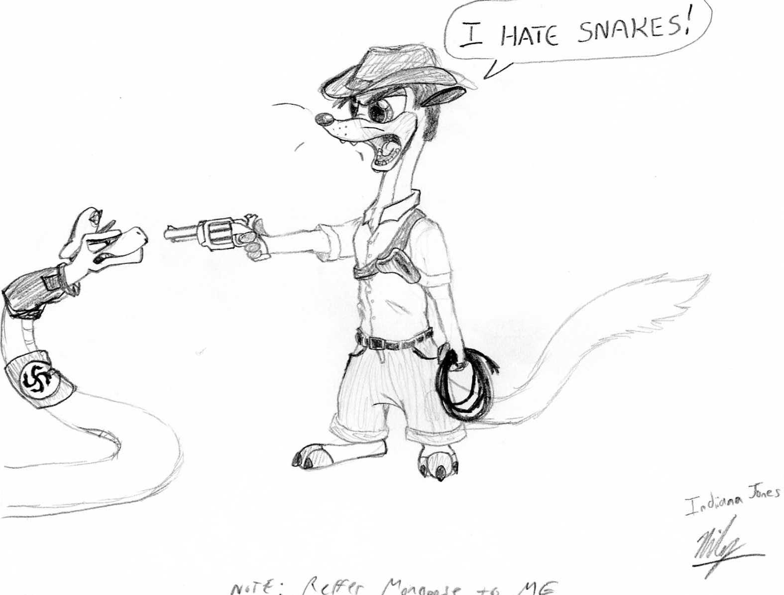 Indiana Jones Clipart Coloring Page Pencil And In Color