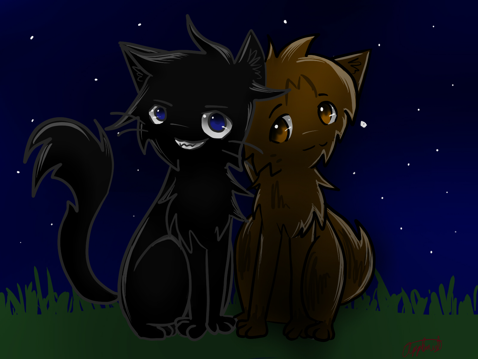 leafpool and crowfeather by applemist on deviantart