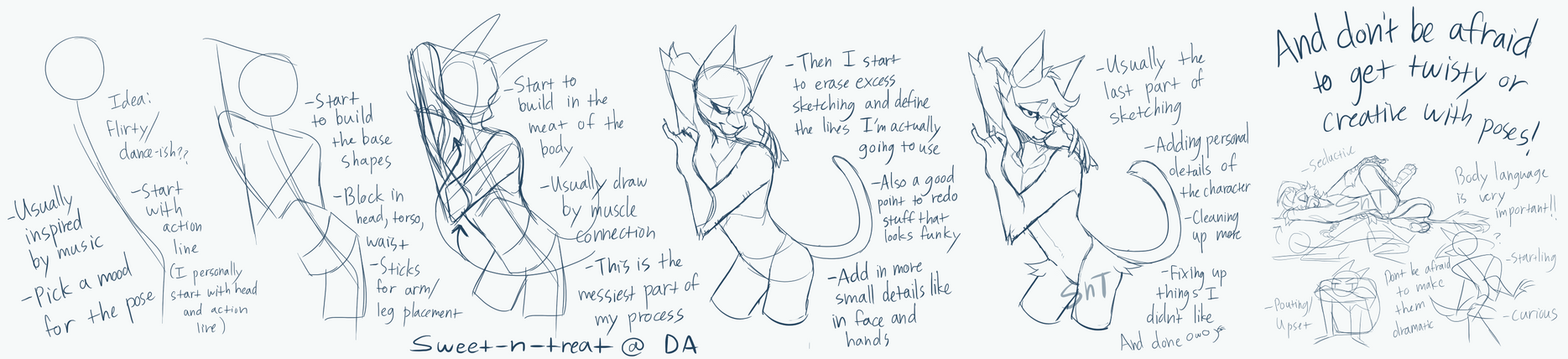 How I build poses by Sweet-n-treat