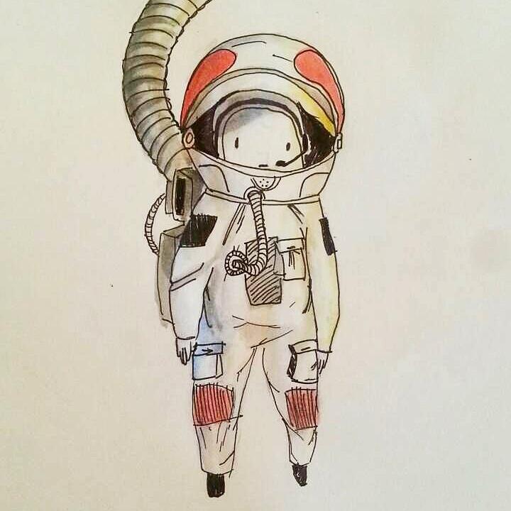 Little space man by craz4pie