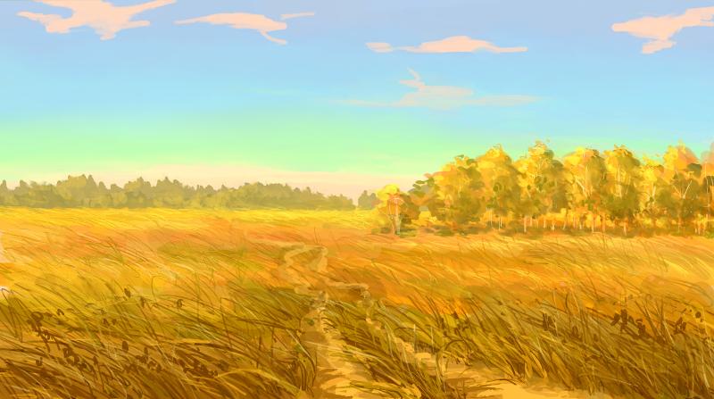 Rural road by Helvende