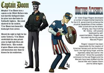 Captain Doom vs Doctor America by DBed