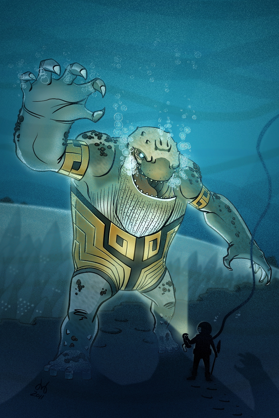 Cetacius, Guardian of Atlantis by DBed
