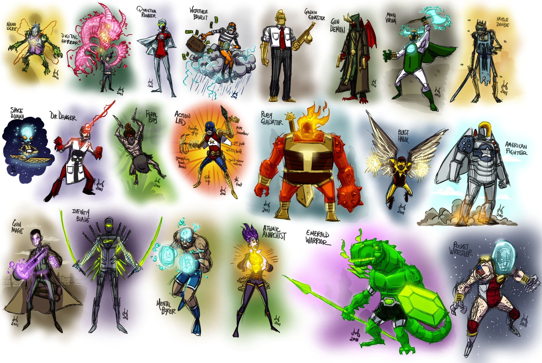 21 Quick Random Heroes by DBed