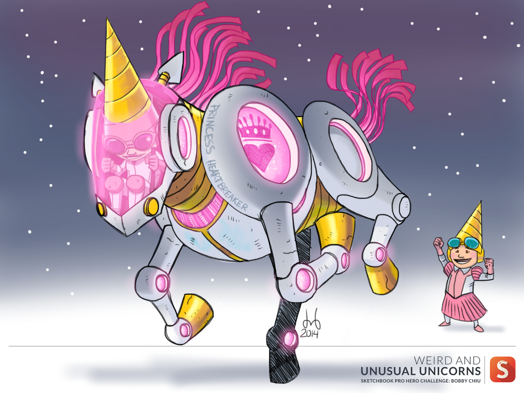 Sketchbook Hero Challenge 1407 - Unicorn by DBed