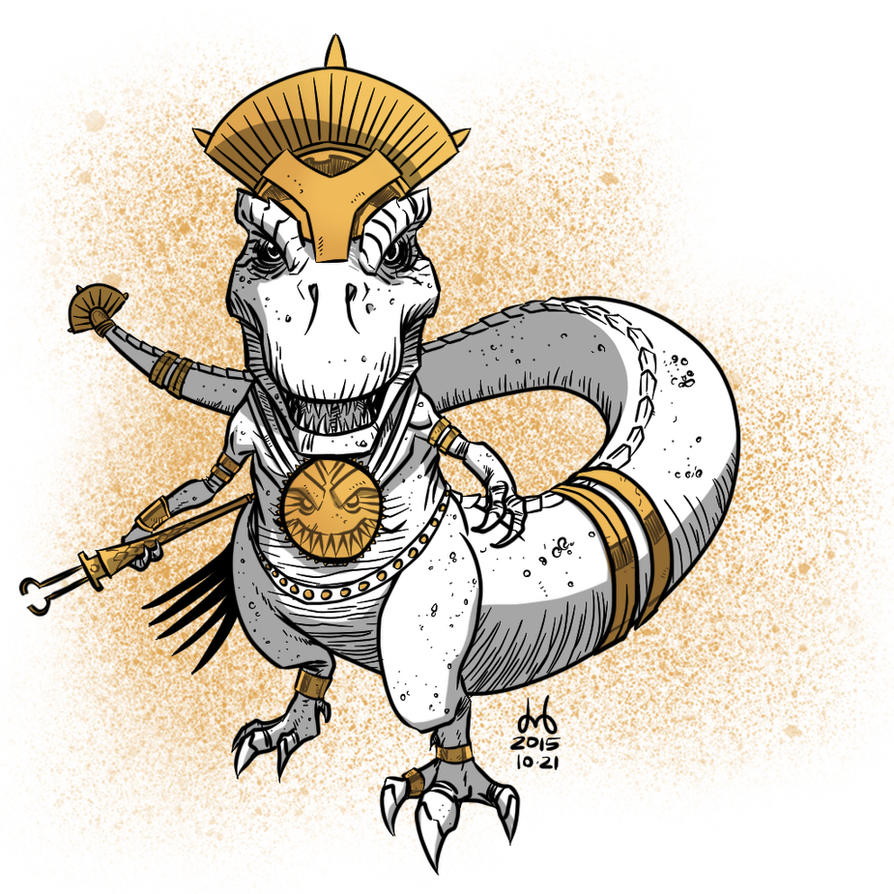 Inktober 2015 - Day 21 - Golden Tyrant by DBed