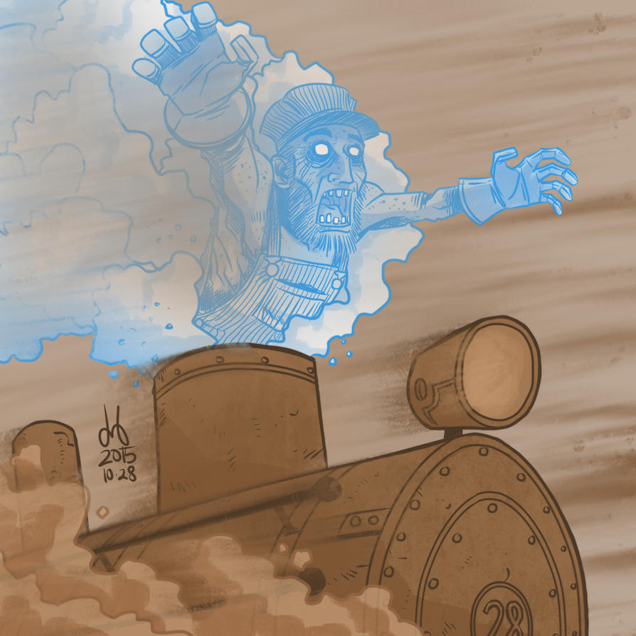 Inktober 2015 - Day 28 - Steam-Powered Specter by DBed