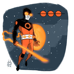 Inktober 2015 - Day 31 - Orange Orion