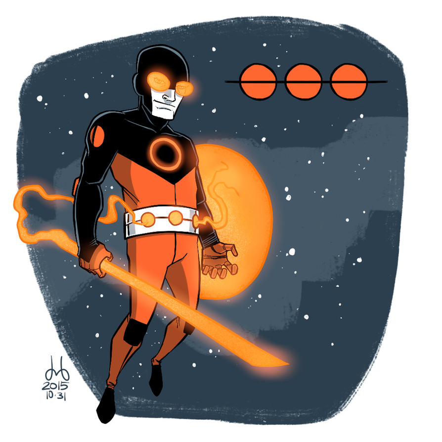 Inktober 2015 - Day 31 - Orange Orion by DBed