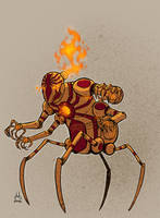 Fire Spider Reimagined by DBed