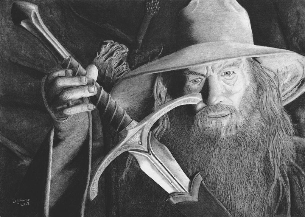 Gandalf finds Glamdring by DJPrior