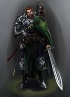Randolf the Legendary Mercenary by Shocktowerarts