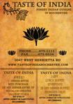 Taste of india restaurant ad