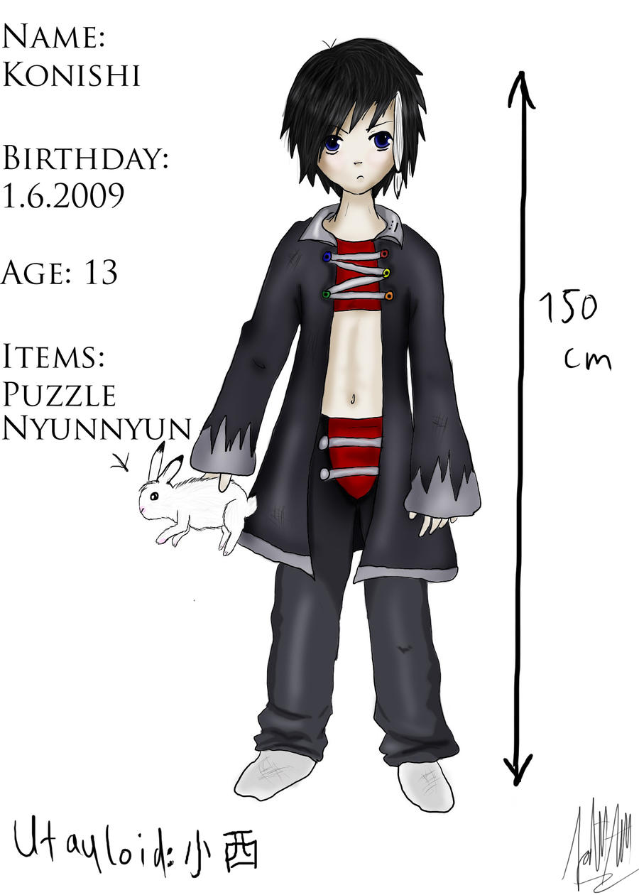 View a character sheet Character_sheet__Konishi_by_LuvAxelRenoAndeDemyx