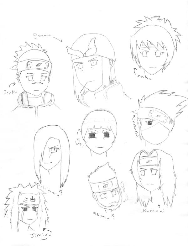 how to draw naruto characters faces