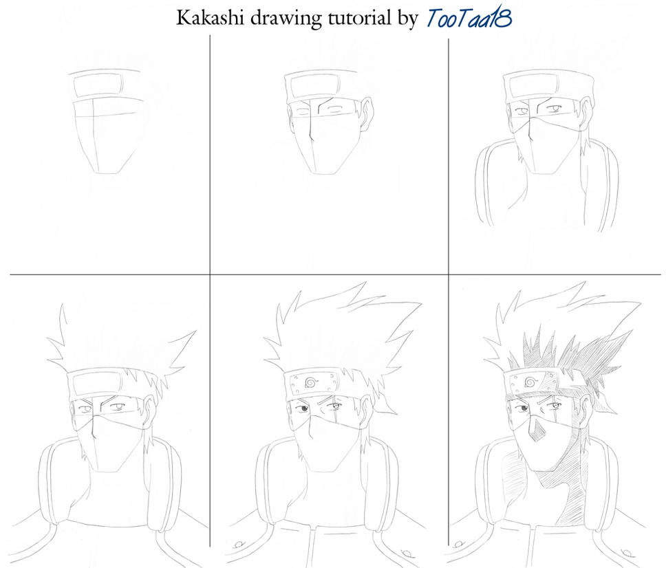 Kakashi Drawing Easy Kakashi Drawing Tutorial by