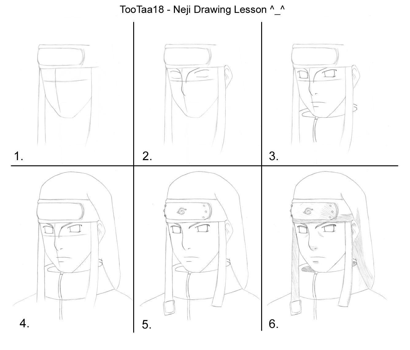 Neji Drawing Tutorial By Tootaa18 On DeviantArt