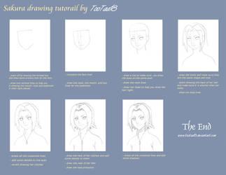 Sakura drawing tutorial by tootaa18