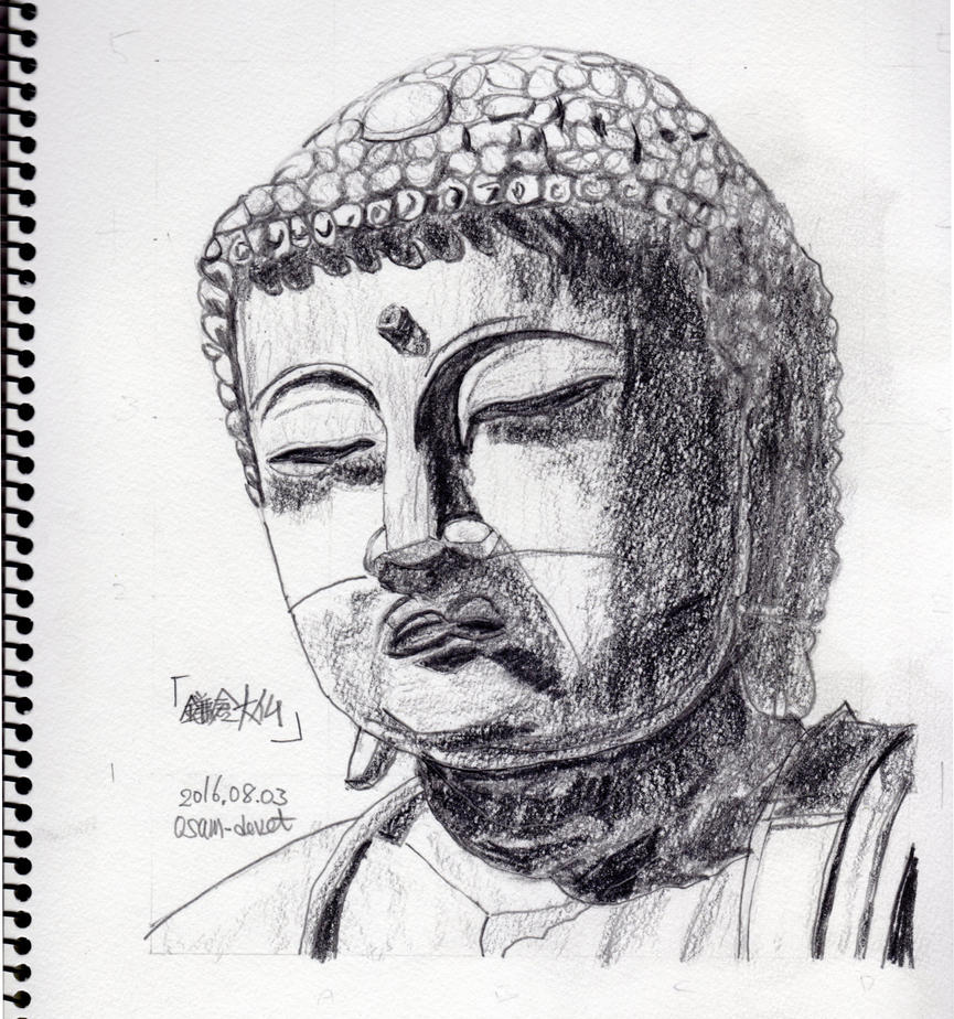 Great statue of Buddha of Kamakura by osam-devet