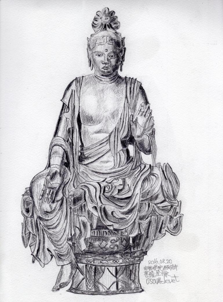 Bodhisattva statue in Gantokuji temple by osam-devet
