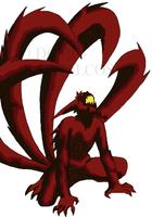 New-Coloured Kyuubi Naruto by DomoOrichalcos