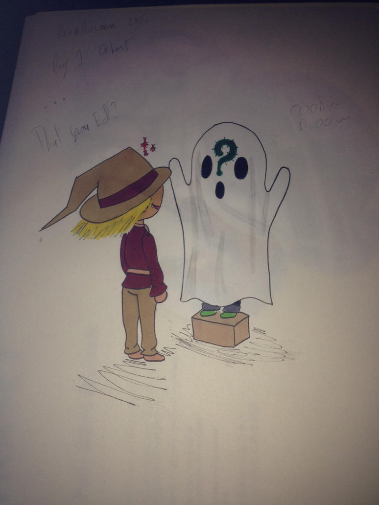 Drawlloween day 1 Ghost by CaxceberXVI