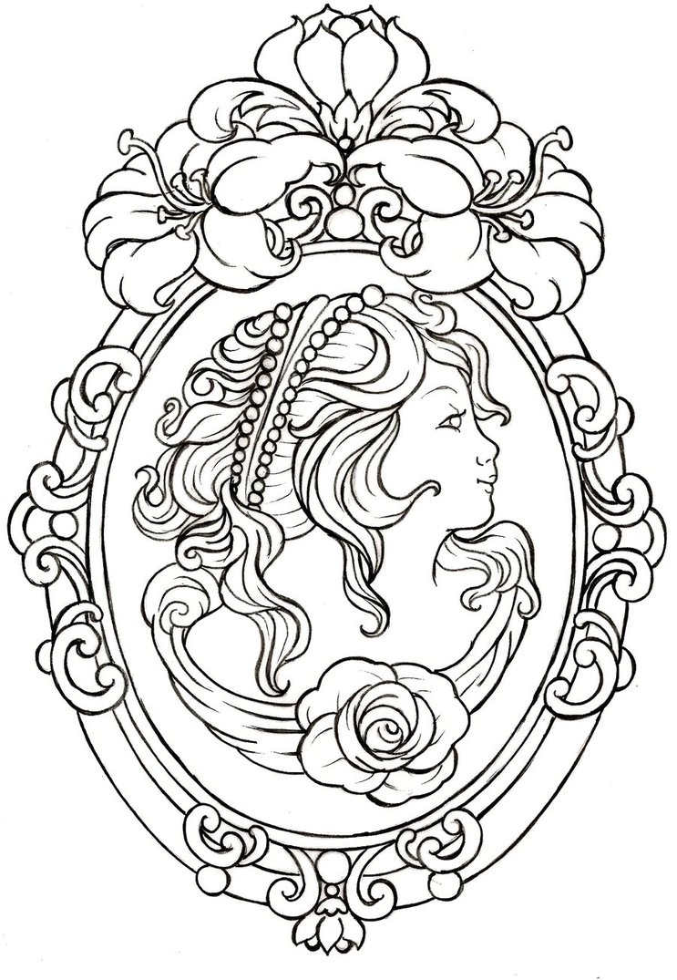 Free Tattoo Line Drawing : Sugar skull line drawings by eaglespare on deviantart