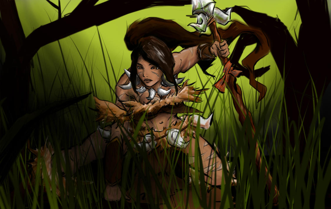League of Legend Nidalee by davidkimy