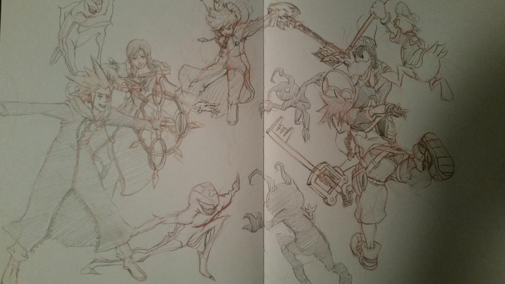 Kingdom Hearts Shinanigan by davidkimy