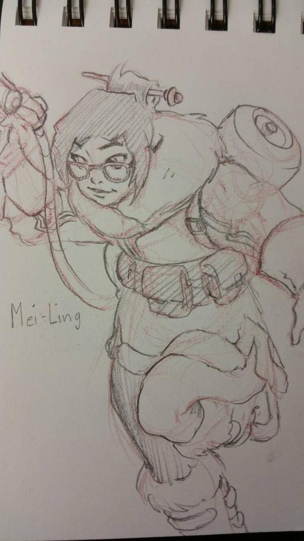 Mei Overwatch by davidkimy